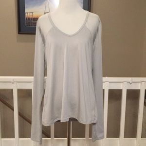 Victoria's Secret Sport Gray Sheer Back Top